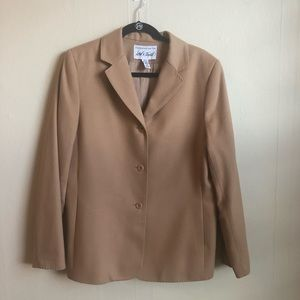 Lord & Taylor Camel Color Wool Cashmere Jacket
